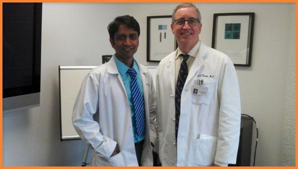 Dr Karthik Gunasekaran with Dr. Paul Turek